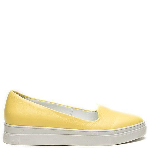 Женские слиперы Modus Vivendi желтого цвета на белой подошве, фото