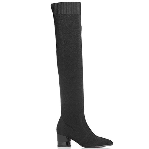 Черные ботфорты Marino Fabiani с острым носком, фото