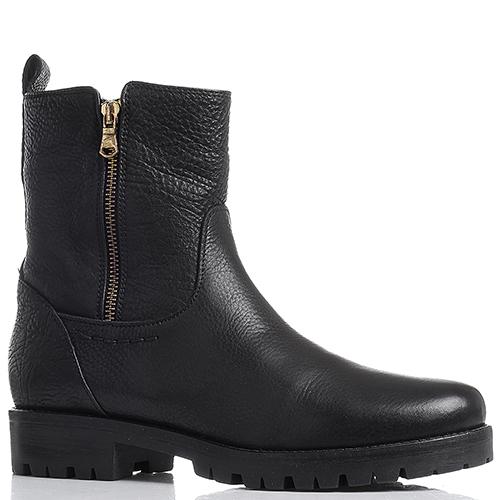 Высокие ботинки Mally черного цвета с двумя молниями, фото