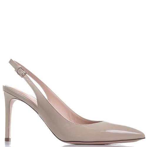 Туфли-слингбеки Dyva бежевого цвета на шпильке, фото