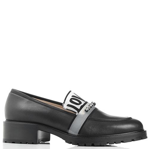 Туфли-лоферы Alberto Gozzi черные с принтом, фото