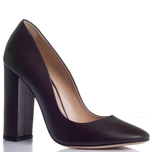 Коричневые туфли Marco Barbabella на высоком устойчивом каблуке, фото
