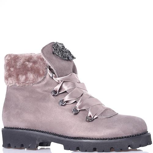Ботинки Hestia Venezia с атласной шнуровкой, фото