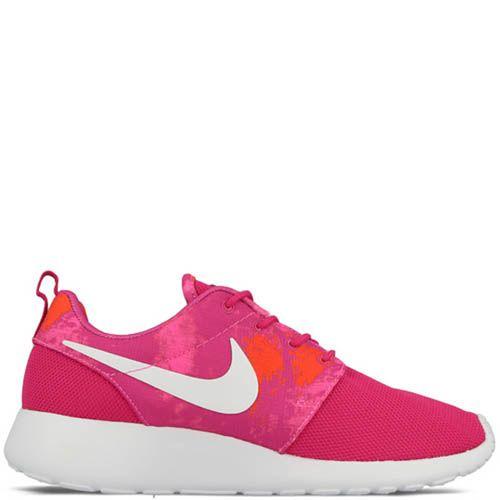 Кроссовки Nike Rocherun Print женские розового цвета, фото