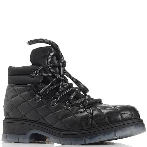 Стеганые ботинки Fru.It черного цвета, фото