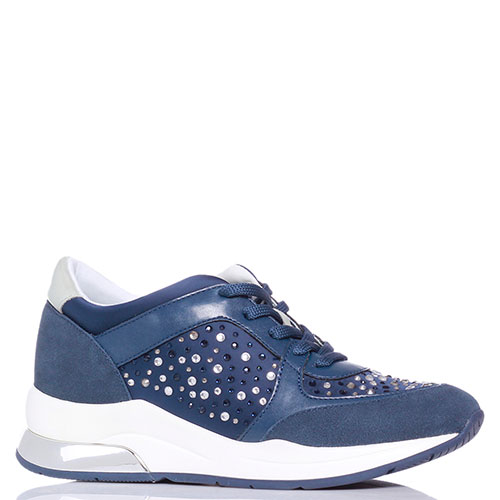 Кроссовки синие Liu Jo со стразами, фото