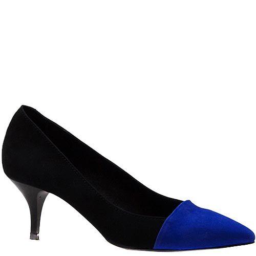 Женские туфли Modus Vivendi из черной замши с острым носком, фото