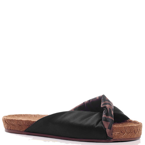 Шлепанцы Fendi на плетеной подошве, фото