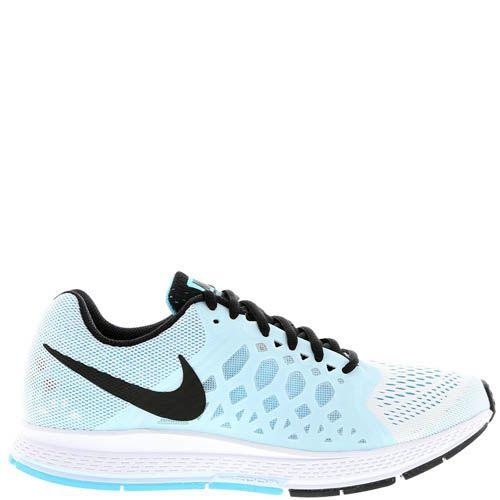 Кроссовки Nike Air Zoom Pegasus женские голубого цвета с силиконовыми вставками по бокам, фото