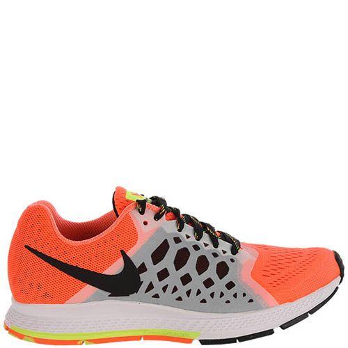Кроссовки Nike Air Zoom Pegasus женские оранжевого цвета с серыми вставками по бокам, фото