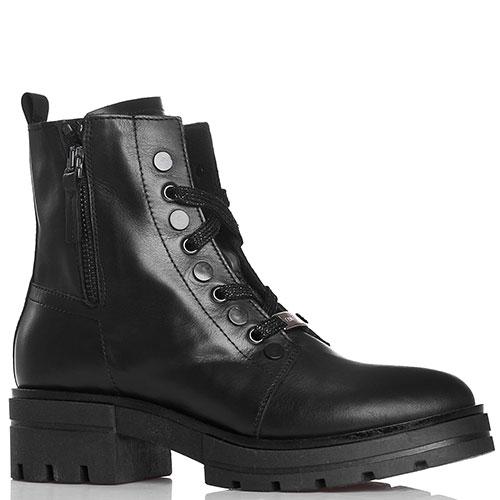 Ботинки Tine's из гладкой кожи черного цвета, фото