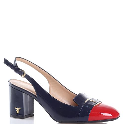 Туфли-слингбеки Giovanni Fabiani на устойчивом каблуке, фото