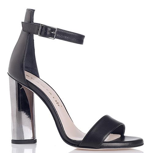 Босоножки Chantal черного цвета на металлическом каблуке, фото