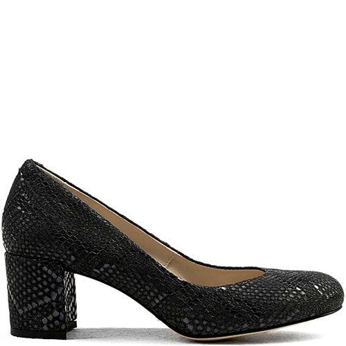 Женские туфли Modus Vivendi черного цвета с имитацией кожи питона, фото