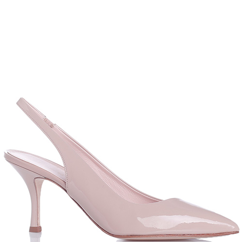 Лаковые туфли-слингбэки Chantal на шпильке, фото