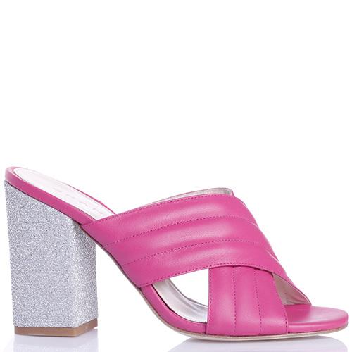 Розовые мюли Chantal на устойчивом каблуке, фото