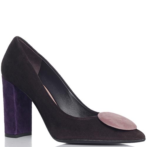 Замшевые туфли Chantal на фиолетовом каблуке, фото