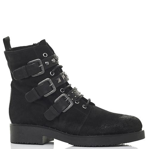 Ботинки Mally черного цвета с шипами, фото