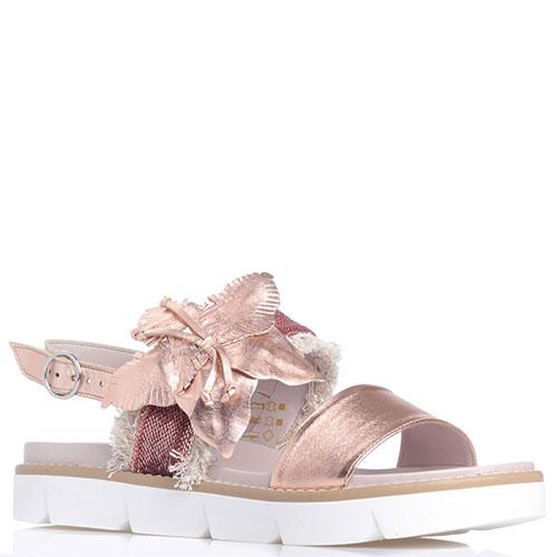 Розовые сандалии Jeannot с бахромой и пайетками, фото