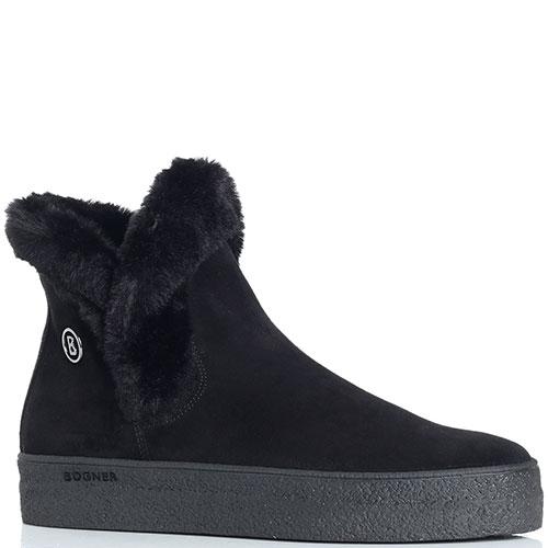 Замшевые ботинки Bogner черного цвета, фото