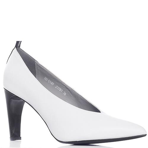 Белые туфли Genuin Vivier на высоком каблуке, фото