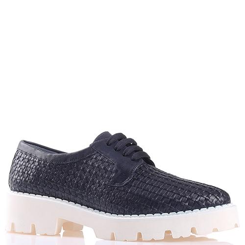 Темно-синие туфли Baldinini на толстой подошве, фото