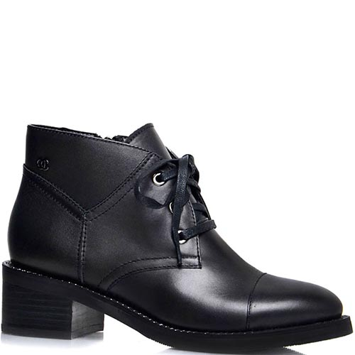Ботинки Prego черного цвета на среднем каблуке, фото