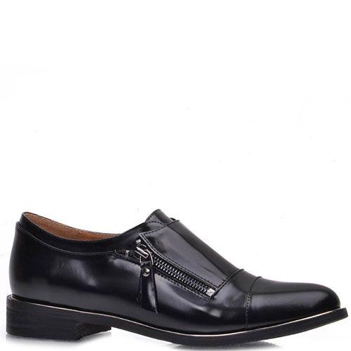 Туфли Prego из натуральной глянцевой кожи на молнии, фото