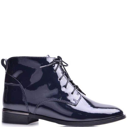 Ботинки Grado женские лаковые темно-синего цвета, фото