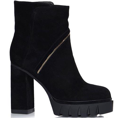 Ботинки Prego черного цвета с золотистым декором, фото