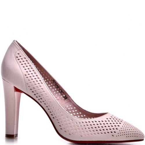 Туфли Prego нежно-розового цвета с перфорацией, фото