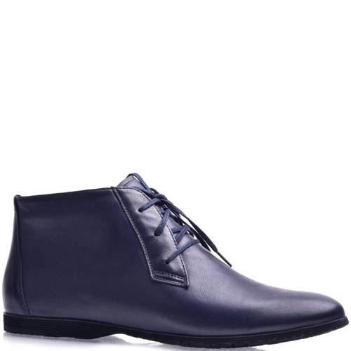 Ботинки Grado женские кожаные темно-синего цвета, фото