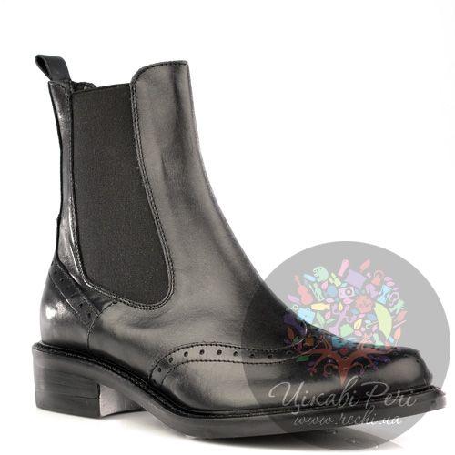 Ботинки Bluzi черные кожаные в тренде Back-To-School, фото