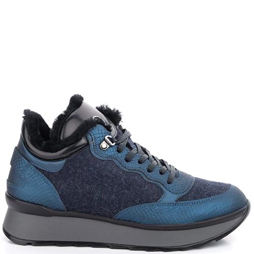 Синие кроссовки Bogner на меху, фото