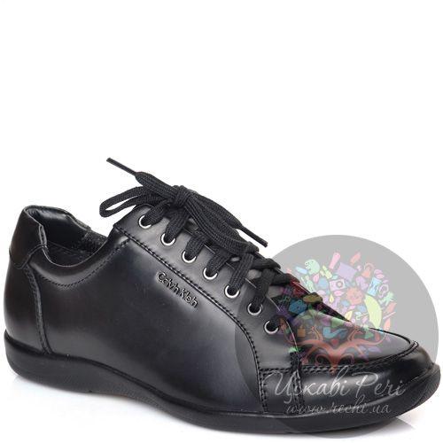 Кеды Calvin Klein черные кожаные, фото