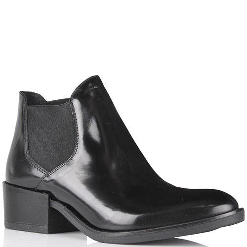 Ботинки-челси Ovye черного цвета из глянцевой кожи, фото