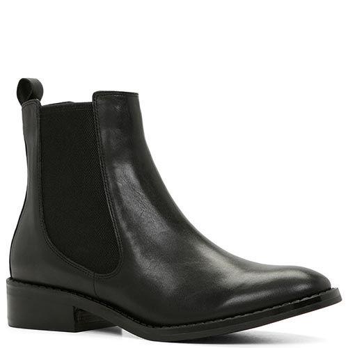 Демисезонные ботинки Aldo Cydnee из натуральной кожи черного цвета, фото