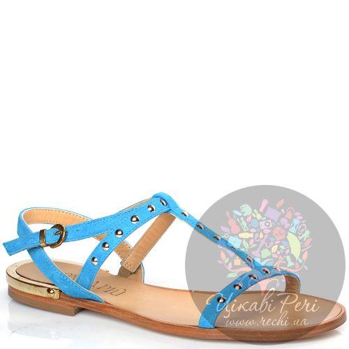 Сандалии Donna Piu замшевые голубые, фото