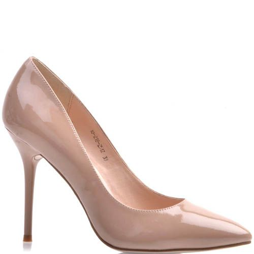 Туфли-лодочки Prego лаковые телесного цвета, фото