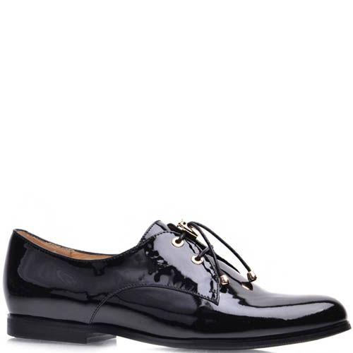 Туфли Prego женские лаковые со шнуровкой-резинкой, фото