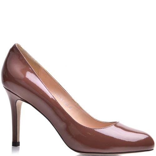 Туфли-лодочки Prego коричневого цвета лаковые, фото