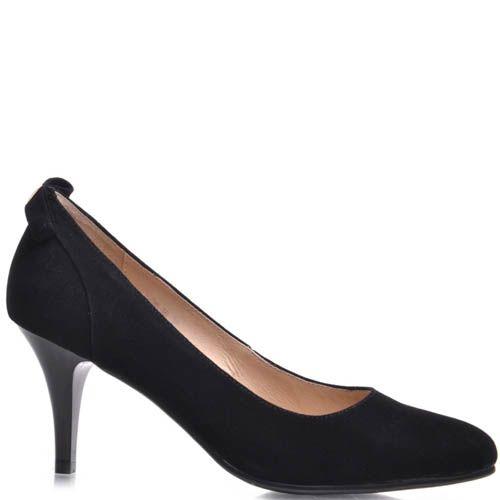 Туфли-лодочки Prego черного цвета замшевые, фото
