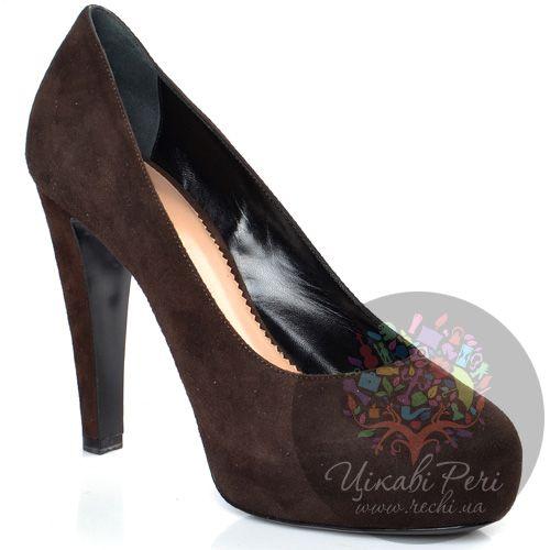 Туфли Emporio Armani коричневые замшевые, фото