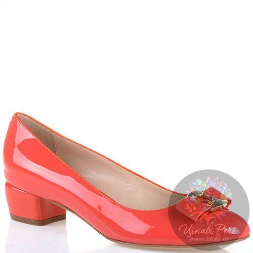 Туфли Essere кожаные лаковые светло-коралловые, фото