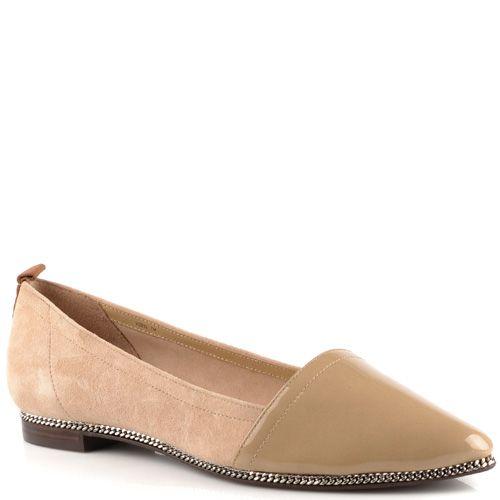 Туфли-эспадрильи Rachel Zoe бежевые замшевые с кожаным лаковым носком, фото
