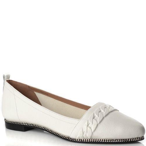 Туфли-эспадрильи Rachel Zoe кожаные белые с цепью, фото