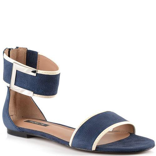 Темно-синие сандалии Rachel Zoe из мягкого нубука с закрытой пяткой на молнии, фото