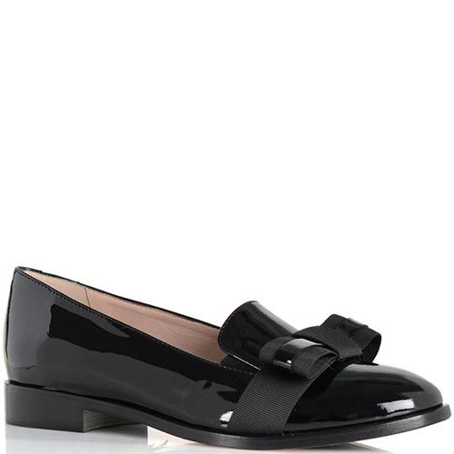 Лаковые туфли Giorgio Fabianiиз натуральной кожи черного цвета, фото