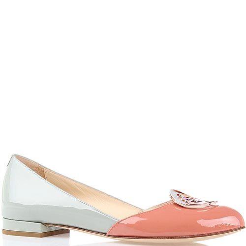 Лаковые туфли FABI в пастельных тонах с окрыглым носочком, фото