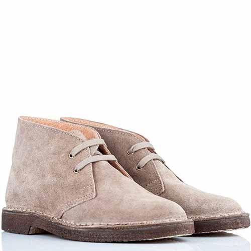 Женские ботинки-дезерты Bagatt замшевые бежевые, фото